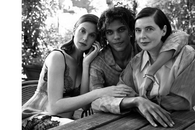 Town & Country. Elettra, Roberto and Isabella Rossellini. November, 2017.