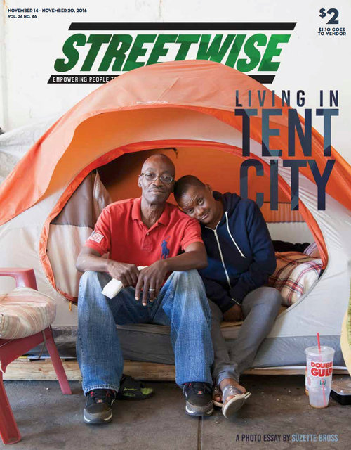 Streetwise Magazine, Living in Tent City, 2016