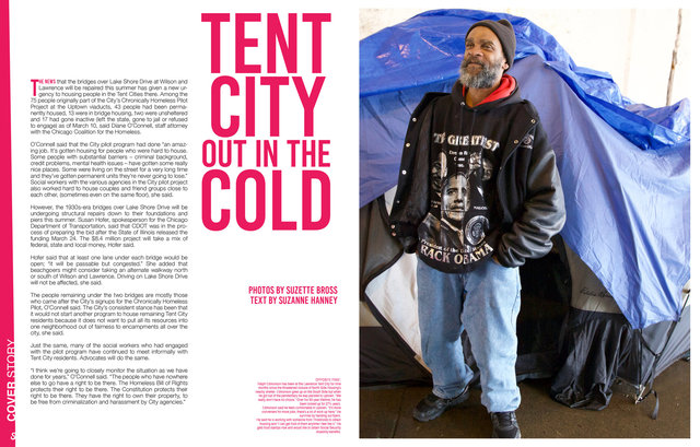 Streetwise Magazine, Tent City Out in the Cold, 2017
