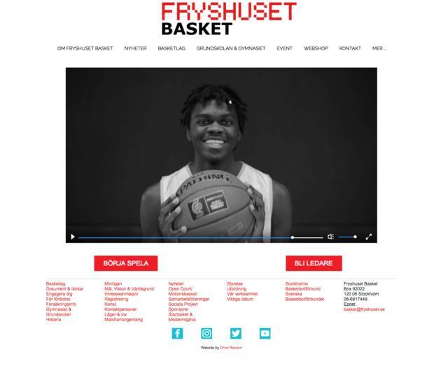 Client: Fryshuset basket