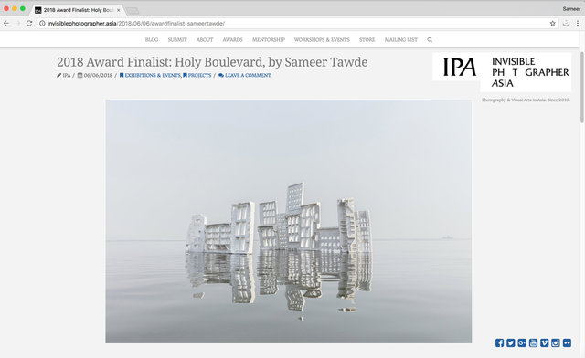 INVISIBLE PHOTOGRAPHY ASIA AWARDS 2018 FINALIST