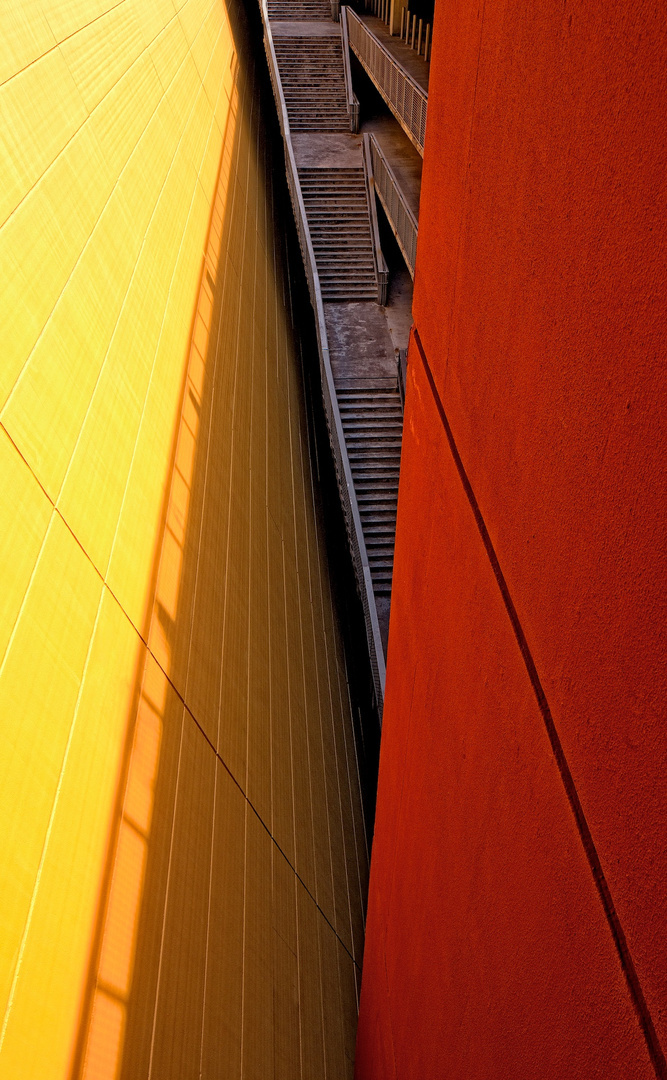 Yellow and Red Staircase