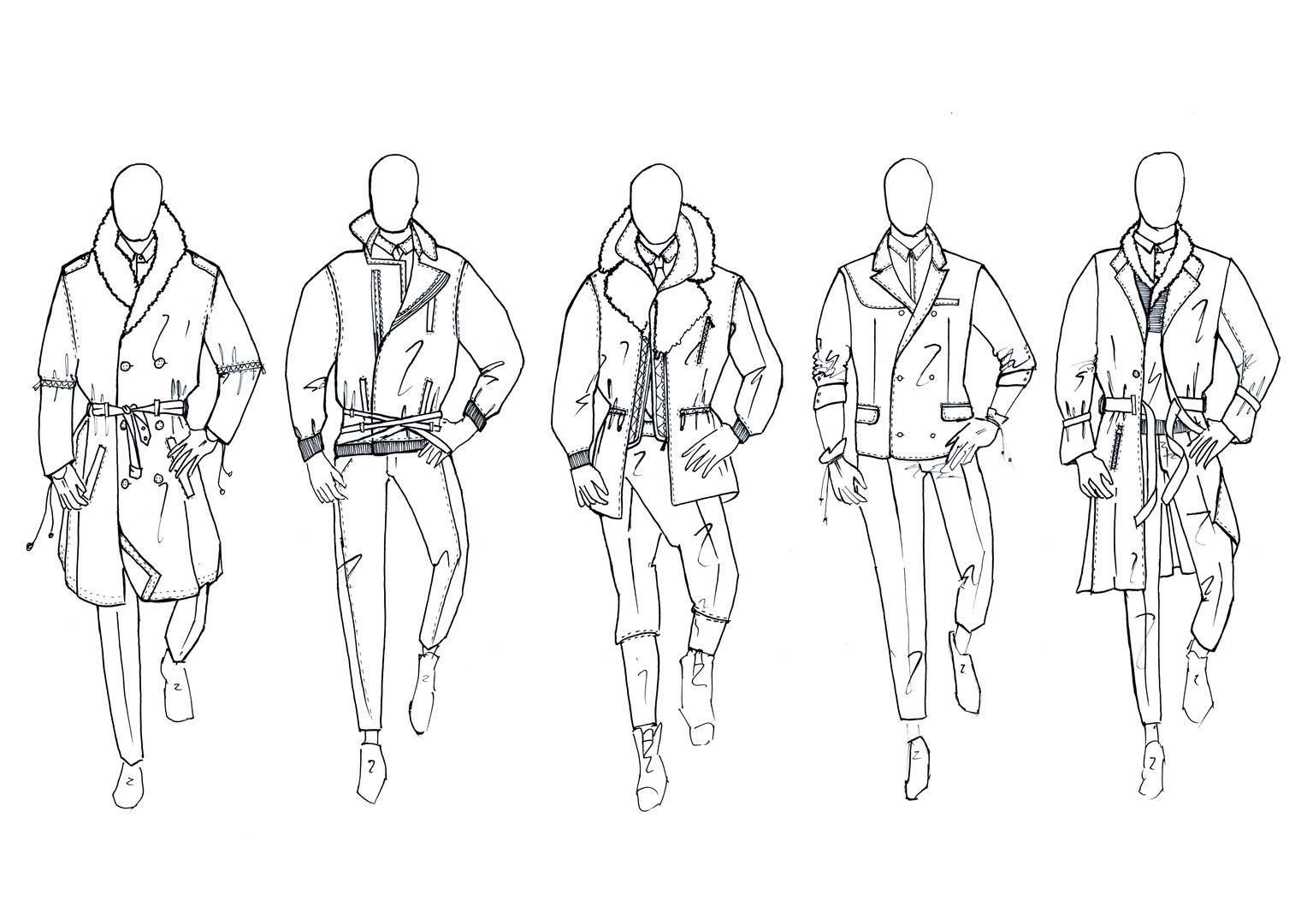 Detailed garment sketch