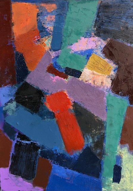 'Colour dynamics II' 101X76cm oil on canvas 2018