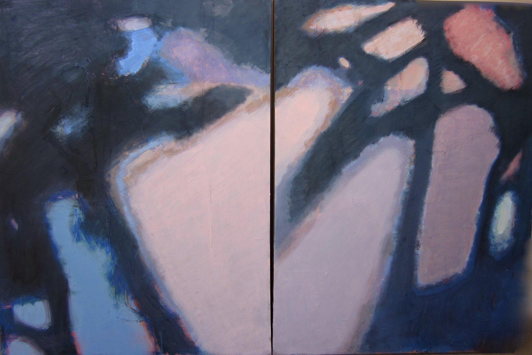 'Silhouette. Through the trees I,II'