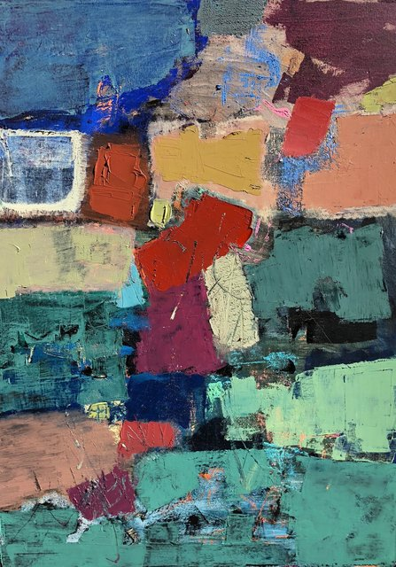 'Colour dynamics IV' 101X76cm oil on canvas 2018
