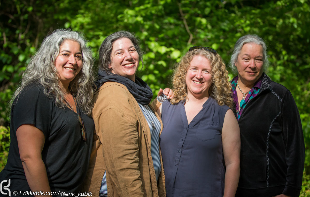 """Trixe Garcia, Annabelle Garcia, Sunshine Kesey and Carolyn """"Mt. Girl"""" Garcia"""