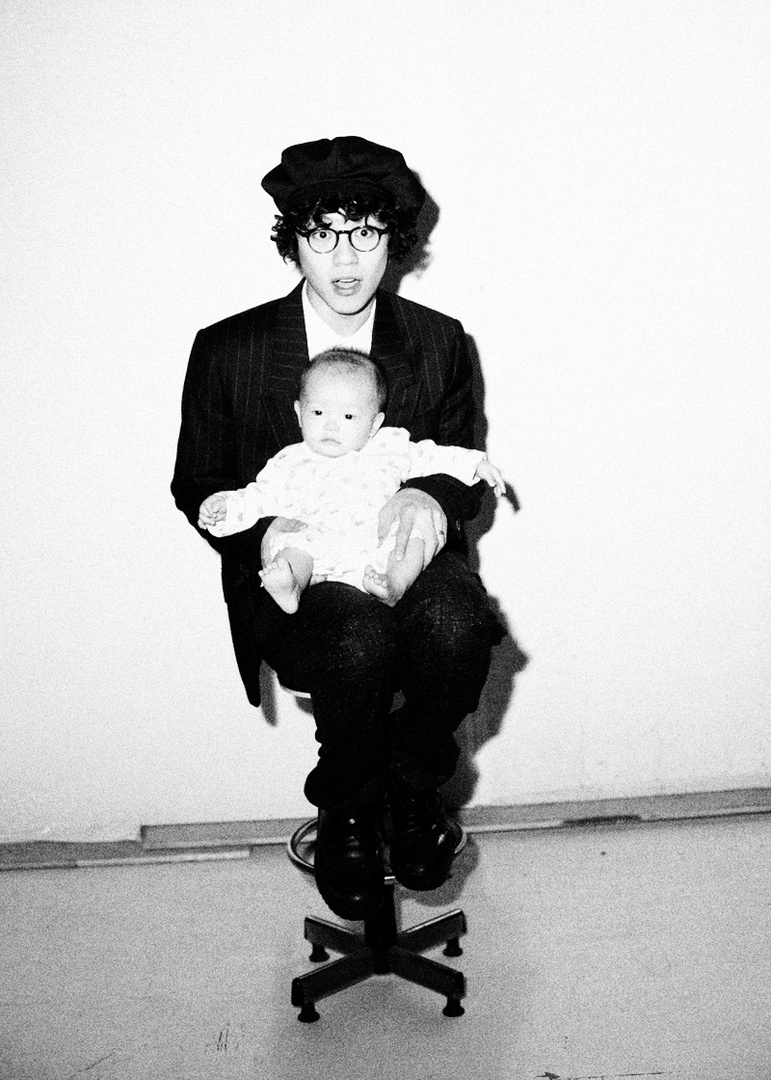 MR. drummer Tom and his baby boy