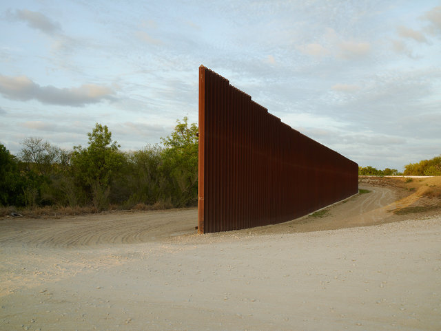 Wall, east of Brownsville, Texas