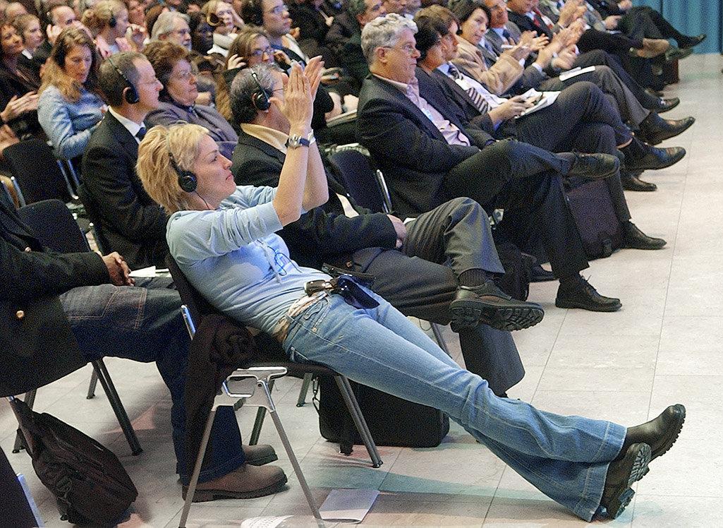 Sharon Stone - Davos WEF - 2005