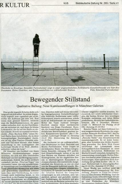 Süddeutsche Zeitung / Dienstag 17. Nov 2009