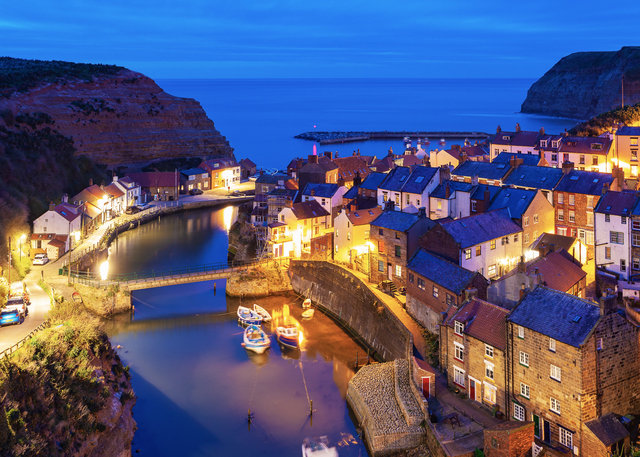Staithes Harbour from above