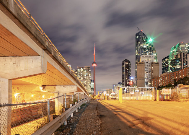 Gardiner Expressway and CN Tower