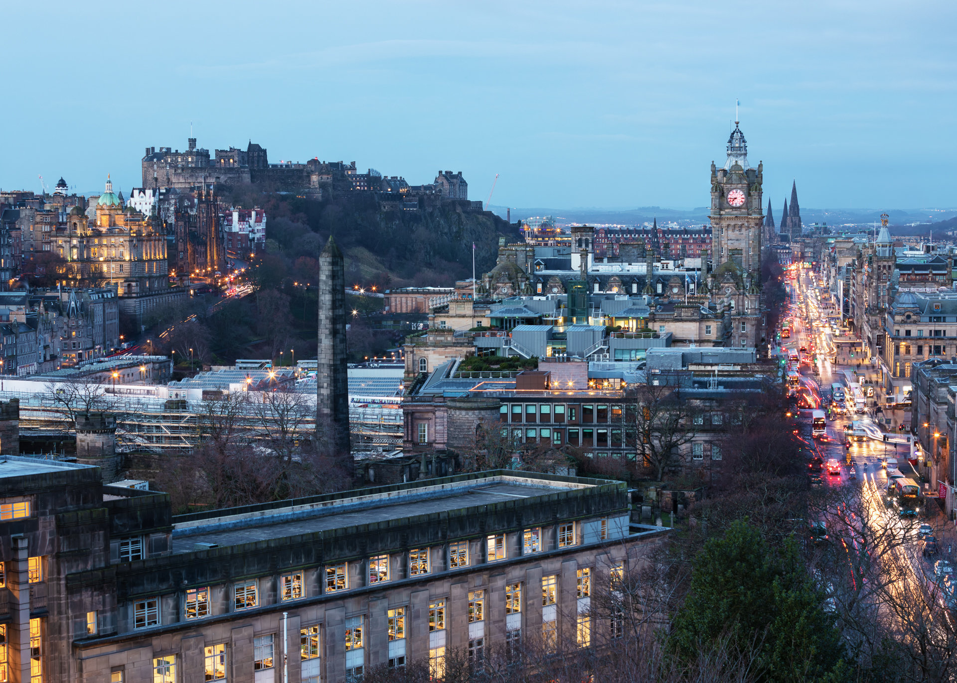 Princes Street from Calton Hill II