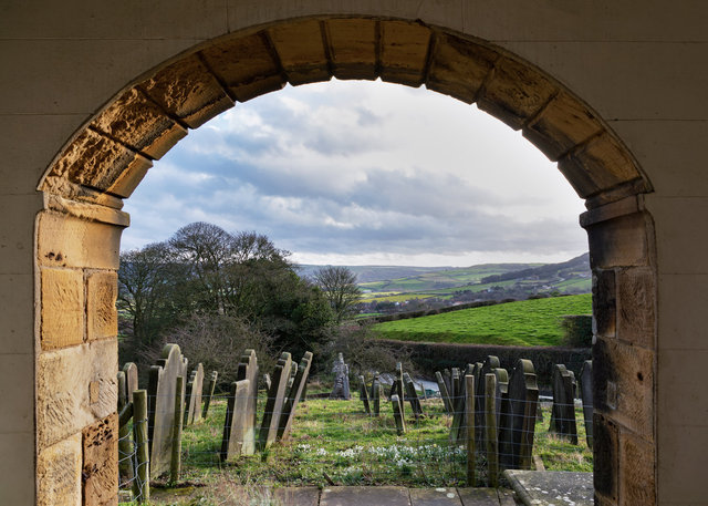 The churchyard of Old St Stephen's Church, Fylingdales