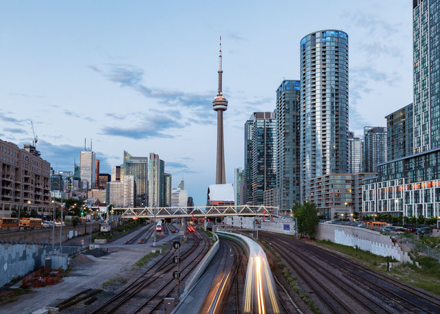 CN Tower from the Bathurst Street Bridge