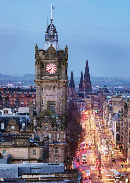 Princes Street from Calton Hill I