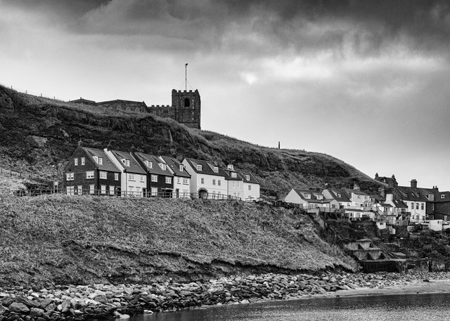 Whitby old town from the River Esk