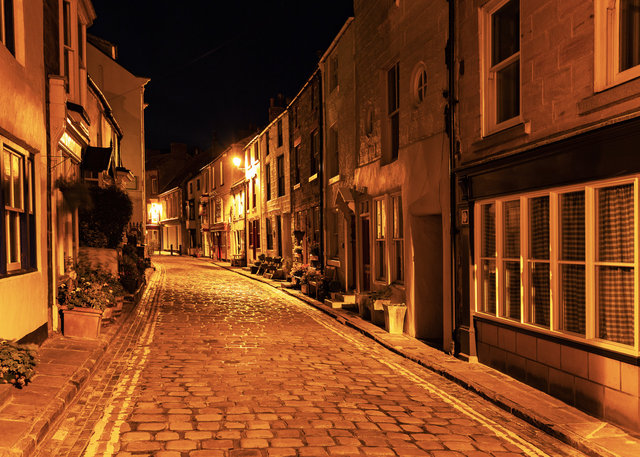 Night in Staithes High Street