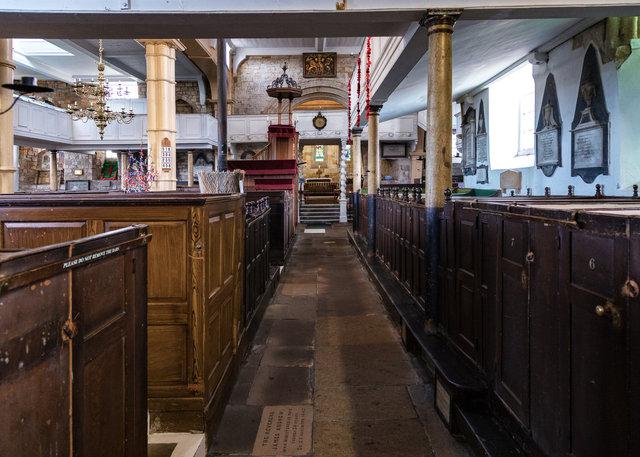 Inside the St Mary's Church