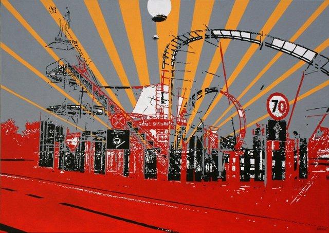 Flrith Leisure Park 70 x 100, akryl na płótnie, 2009