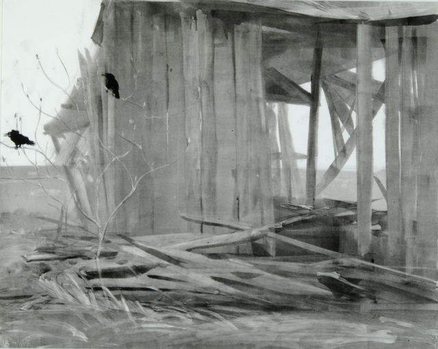 "Old Barn, 23 x 28"" sold"