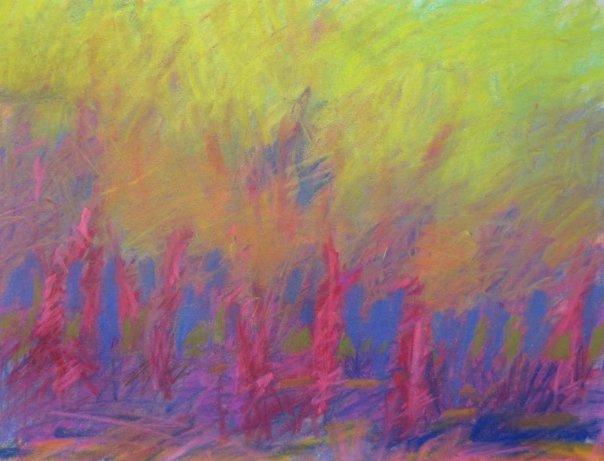 Trees Study, 2014, Pastel on paper, 11.5 x 9