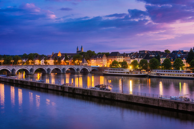 Maastricht and Maas River at Sunset Hi Res.jpg