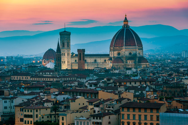 Cathedral in Florence Italy at sunset Hi Res.jpg