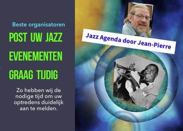 Post uw Jazz Evenementen Graag tijdig