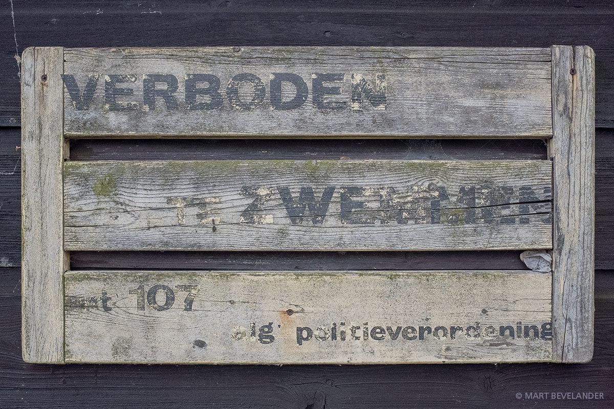 Tekst. Entrepotdok Amsterdam