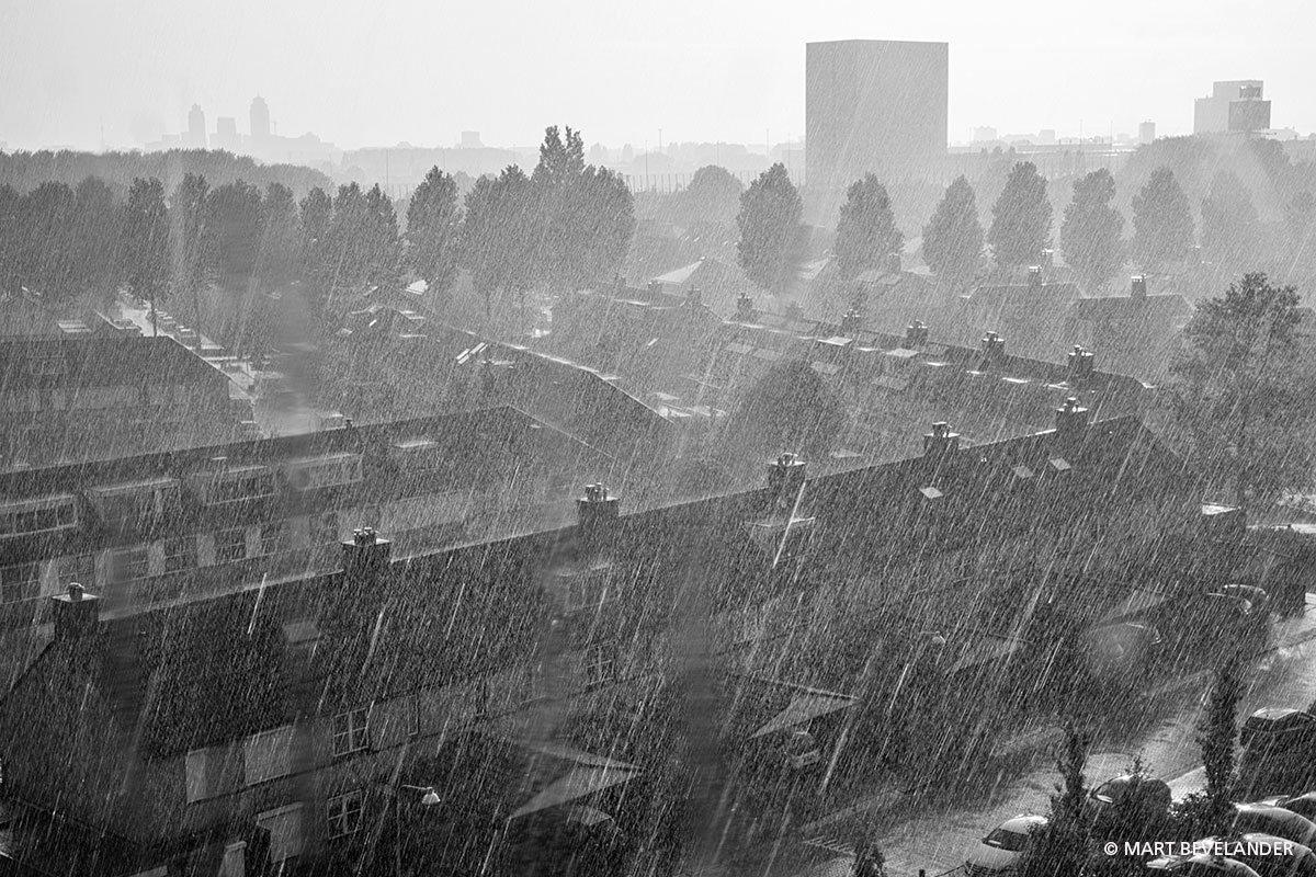 Wolkbreuk boven Diemen, Amsterdam