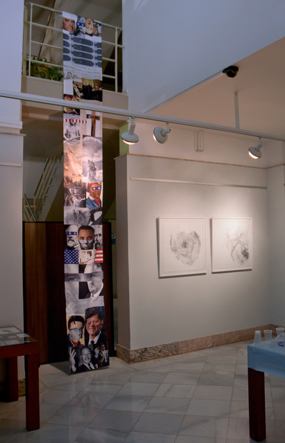 Memory Scrolls Installation at Casa de la Cultura in Valencia, Spain