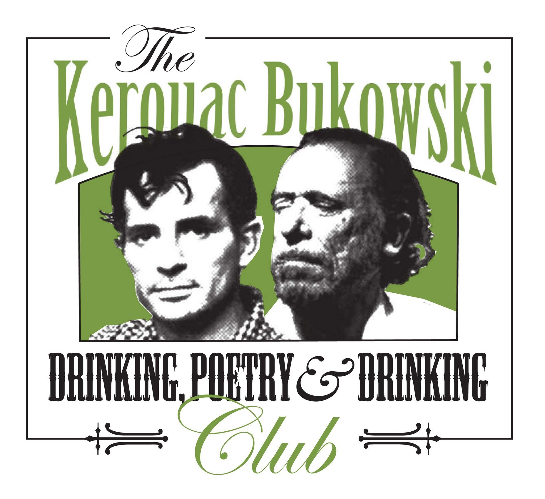 Kerouac Bukowski Drinking, Poetry & Drinking logo.jpg