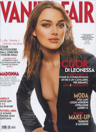 Italian Vanity Fair .Mark Liddell. Keira Knightley