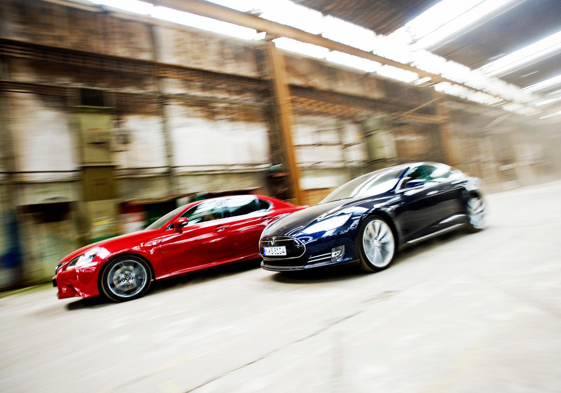 Tesla Model S & Lexus