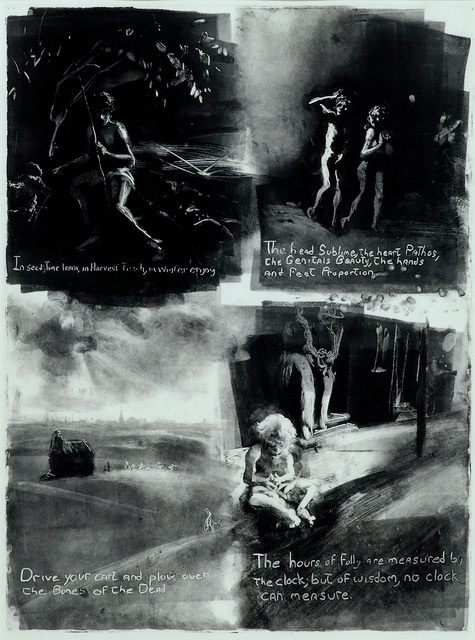 William Blake- Proverbs of Hell, 28 x 23""