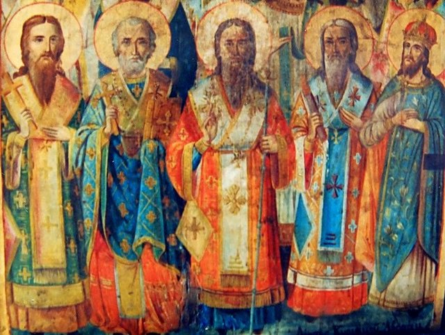 Photograph by Ali Gracie. Byzantine Painting in the Chapel Cave of the 318 Holy Fathers