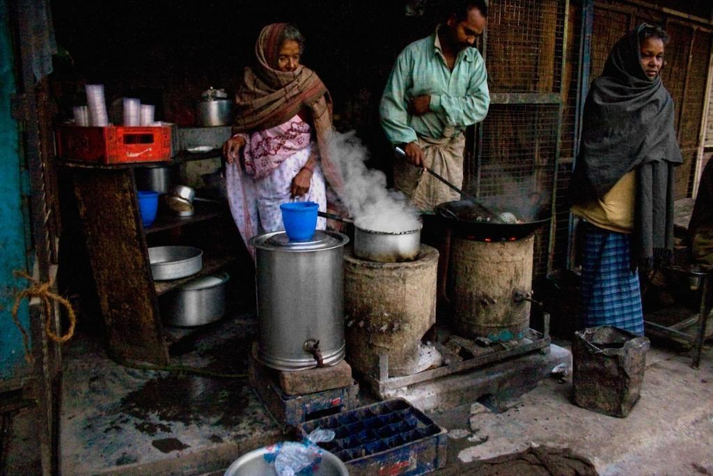 Sopa matinal em Benares