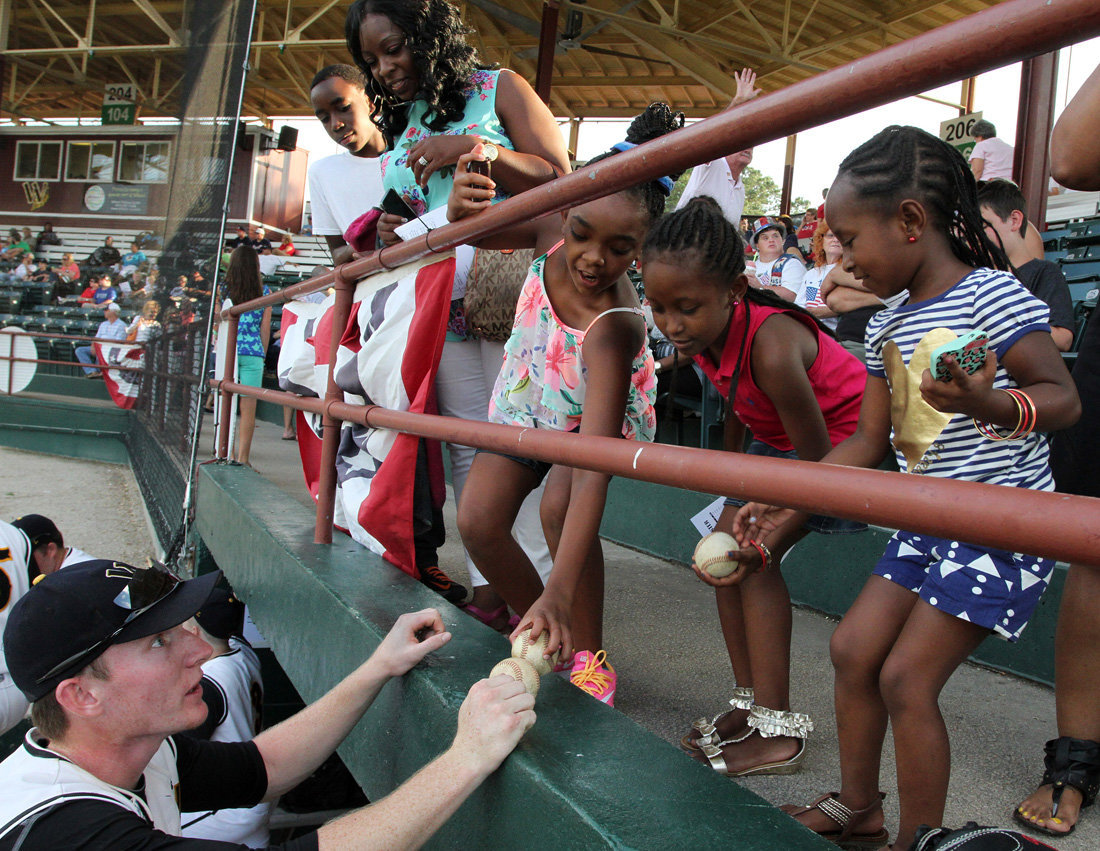 TOBS Baseball and Fans - Fleming Stadium - Wilson NC