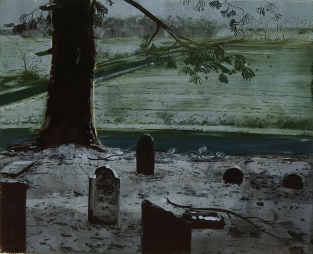 "Crossroads- Cemetery, 21 x 25"""