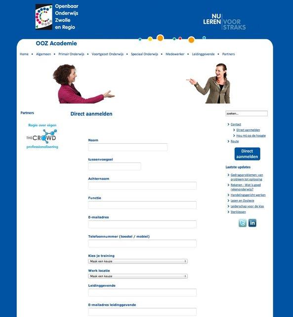 OOZ Academie online formulier