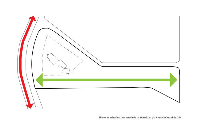 Concurso: Ejes principales Ciudad Verde / Competition diagram