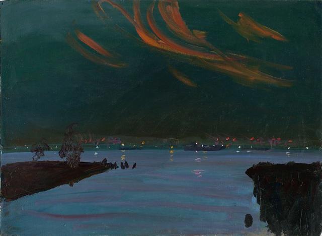 "Opalescent Harbor       32 x 38"""