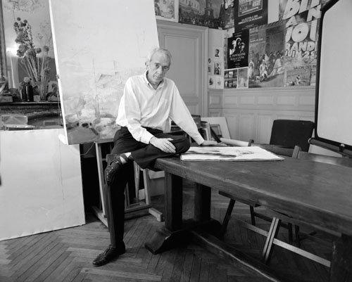 Paul Dauce, peintre-dessinateur, Nantes, Loire-Atlantique, 1990