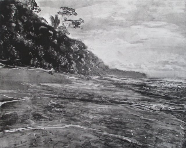Pacific Shore, Costa Rica    22 x 27""
