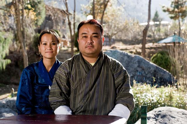 Sampa Tshewang und Tshomo Ghaley