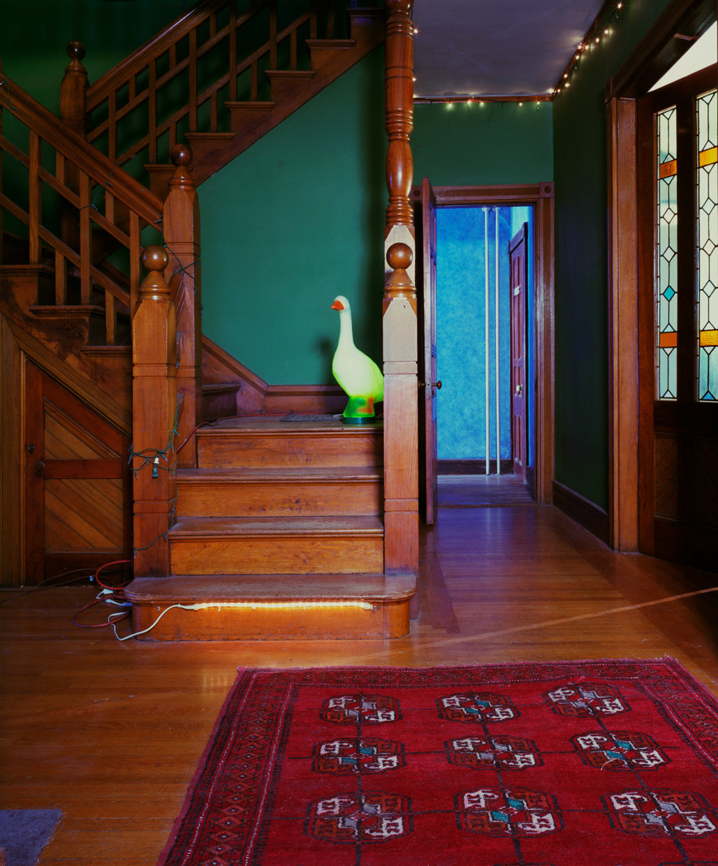 Untitled Interior (goose on stairs), 2005