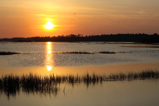 Sunset over the Atlantic Intracoastal Waterway, NC
