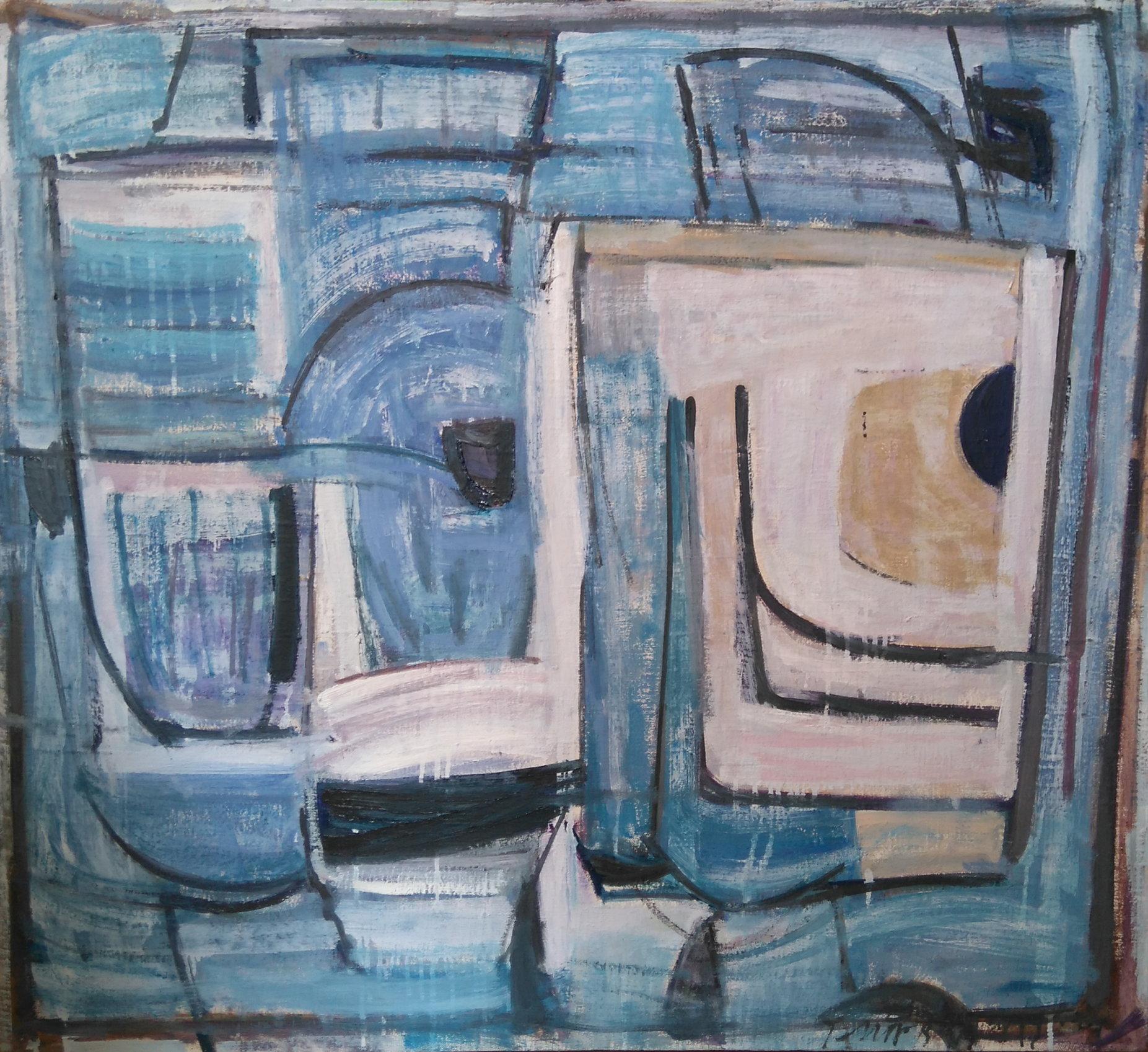Abstrakcja17 90x100 olej płótno 2016